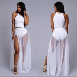Wholesale Chiffon Maxi Dress Round Neck - New hot Chiffon Women Dress Sexy Irregular Dresses Plus Size Fashion Dovetail Mixi Dress Round Neck Vest Beach Long Dress