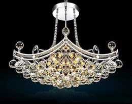Wholesale Big Light Fixtures - Luxury Big Crystal Chandeliers Light Fixture Clear Crystal Lustre Lamp Ceiling Design for Home Deco Light LLFA