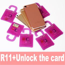 Wholesale Au Unlock - Rsim 11+ r sim 11+ RSIM11+ r sim11+ plus unlock card for iPhone 7 plus iphone 6 unlocked iOS 10.x-7.x 4G CDMA GSM WCDMA SB AU SPRINT