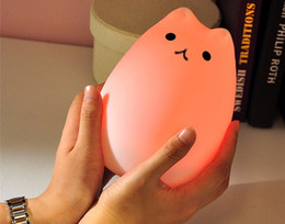 Prime Cat LED USB Enfants Animal Night Light Silicone Doux Cartoon Cartoon Bébé Lampe Accueil nouveauté Respiration LED Night Light Cadeau ? partir de fabricateur