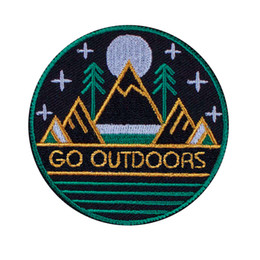 Wholesale Travel Iron Wholesale - new arrive Go Outdoors sport travel Hiking sunshine Patch for jacket iron sew on patches