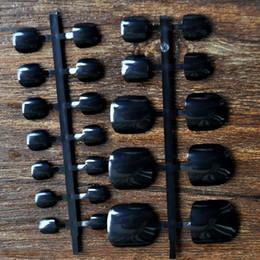 Wholesale Fake Nails Toes - Wholesale- 24pcs Fake Feet Toenail Toe Nail Art Acrylic UV Gel Tips DIY Sexy Black Toes B