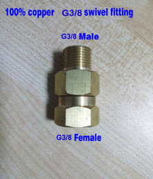 Wholesale Copper Swivel Connector - Wholesale- 10pcs lot G3 8 swivel fitting connector adaptor 100% copper high pressure 350bar inlet G3 8 Female outlet G3 8 Male