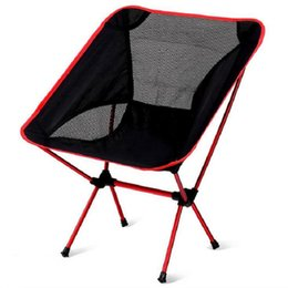 Wholesale Beach Camping Folding Chair - Super-light Breathable Backrest Folding Chair Portable Beach Sunbath Picnic Barbecue Camping Fishing Stool Load Bearing 150 kg Free Shipping