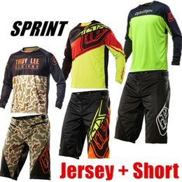 Wholesale Short Tld - Wholesale-2017 Jersey&Shorts TLD Suit Moto GP Motocross Set Downhill Combo MTB Motorcycle Racing Mountain Bike Bicycle Cycling Suit