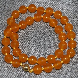Wholesale Natural Jade Top - Free delivery Top quality 10mm natural stone jasper yellow jade round beads chokers necklace women factory outlet jewelry