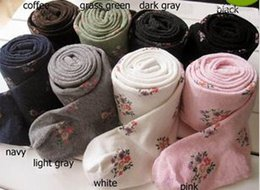 Wholesale Tight Pant Little Girl - Girl Socks Little Flower Cotton Pantyhose For Girl Baby Tights Pants Individually Package