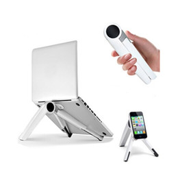 Wholesale Portable Stand Laptop - Free Shipping Adjustable Stand Holder Portable Multiple Angle Stand Desk for Laptop PC Notebook Tablet simple and fashion