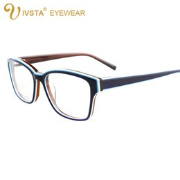 Wholesale Custom Printed Glasses - IVSTA G1280A Handmade Acetate Optical Frame Cat Eye Glasses for Women Butterfly Shadow Color can custom to lenses with degree