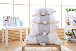 Wholesale Cute Polar Bear - Wholesale- 2016 new 50cm Polar Bear Soft Stuffed Toy Nanoparticle Stuffed Doll Polar Bear Nano Doll Cute Plush Toy Gift For Lovers AND Kids