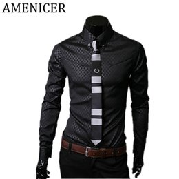 Wholesale Wholesale Clothes For Big Men - Wholesale- Big Size Men'S Shirt Casual Fashion Items Mens Slim Fit Brand Male Designer Dresses Social Shirts For Men Checker Brand-Clothing