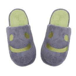 Wholesale Velvet Smile - Wholesale- Brand new Winter Lover Home indoor Warm Slippers Women Men Smile Velvet Soft Non-Slip Slipper Pantufas Shoe #30 2016 Gift 1pair