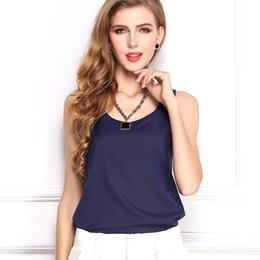 Wholesale Mix Colors S Blouses - Camisole Woman 2016 New Fashion Chiffon Mix Colors Vest Tank Top T-Shirt Summer Sleeveless Casual Female Fashion Blouse