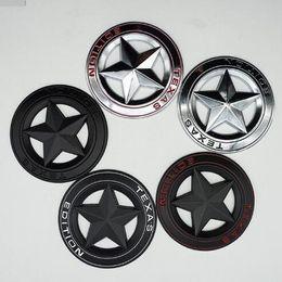Grande decorazione online-3D Chrome Metal TEXAS EDITION Stella a cinque punte Car Styling Stickers Decorazione per Grand Cherokee Compass Wrangler