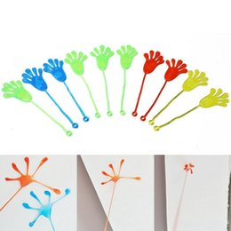 Wholesale Toys Favors - Plastic Mini Sticky Hands Palm Elastic Sticky Squishy Slap Flexible Pams Party Favors Classic Kids Toys OOA2361