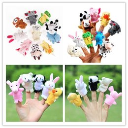 Wholesale Christmas Finger Puppets Story - Finger plush toys 10 pcs lot Baby Plush Toy  Finger Puppets Tell Story Props(10 animal group) Animal Doll  Kids Toys  Children Gift