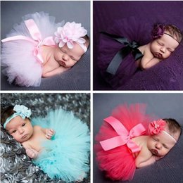 Wholesale Newborn Photography Outfits - Newborn Photography Props Sweet Design Photo Props with Headband Baby Infant Costume Outfit Princess Tutu Skirt Summer Dress