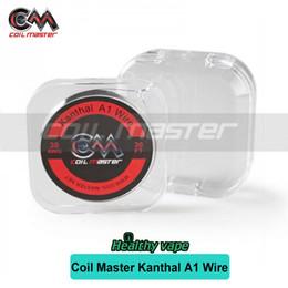 Wholesale E 28 - Original Coil Master A1 Wire 30ft roll 22 24 26 28 30GA For RTA RDA RBA E cig