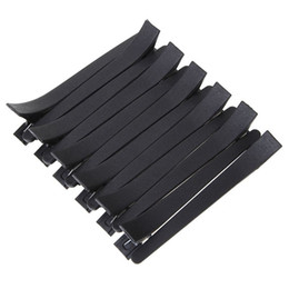 Wholesale Duck Clips - 50pcs Black Duck Mouth Hairdressing Clips Salon Flat Metal Hair Styling Section Clip Accessories Hair Cutting Hair Clamps Tools