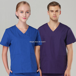 Wholesale Uniform Scrubs - Plus size women nurse uniform hospital nursing medical clothing scrub set short sleeve medico surgical scrub dental clinic spa medical robe