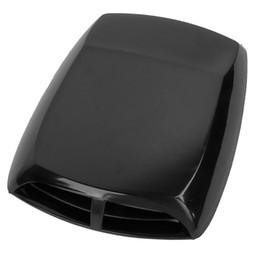 Wholesale Air Flow Intake Hood - Universal Car Air Flow Intake Scoop Turbo Bonnet Vent Cover Hood Black
