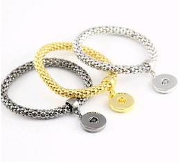 Wholesale Mixed Order Rings For Women - 18-20MM NOOSA Chunks Snap Button Jewelry Bracelets Fashion Personality Corn Chain Hand Accessories for Women 3colors Mix order