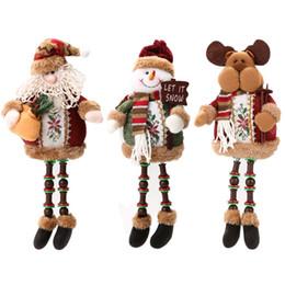 Wholesale Santa Claus Tree Ornaments - Special Santa Claus Snow Man Reindeer Doll Christmas Decoration Christmas Tree Hanging Ornaments Pendant Christmas Gift