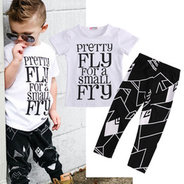 Wholesale Toddler Fashion Winter - T-Shirt Tops + Trousers Pants Casual Clothing Fashion Outfits Set Summer 2016 Toddler Kids Baby Boys Clothes Sets Short Sleeve
