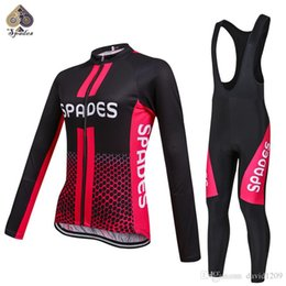 Wholesale Quality Spade - SPADES High quality Women Long sleeve Cycling Jerseys Cycling Clothing Bicycle Wear Ropa Ciclismo Free shipping