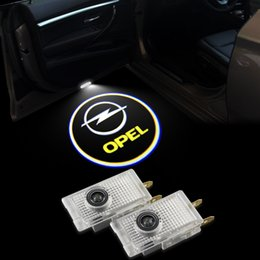 Wholesale Opel Light For Car - LED Car Door Logo Light For Opel Insignia Ghost Shadow Courtesy Laser Projector Welcome Lamp 2010-2016