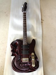 Wholesale Hand Carved Electric Guitars - ATL Carved Dragon Slayer Style Electric Guitar With Mahogany Body Rosewood Fingerboard 22 Fret