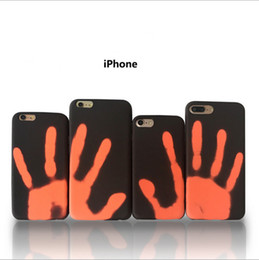 Wholesale Heating Clips - For iphone x case Thermosensitive Color Change TPU Cases Thermal Sensor heat Sensitive Fingerprint back cover for iphone 8 plus 7 6 6s plus