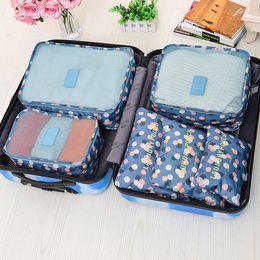 Canada Sacs de rangement de voyage ensemble Portable bien rangé valise organisateur vêtements emballage maison placard diviseur conteneur sac 6 PCs de haute qualité Offre