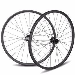 Wholesale Carbon Mtb Wheel Sets - 29er carbon asymmetric mtb wheelset 33 width carbon wheels 15*100 12*142 Sram 11