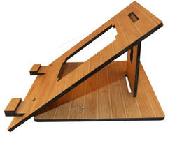 Wholesale Laptop Cool Tablet - bamboo portable bracket folded bracket for laptops or tablets cooling tablets stand wooden holders for tablets pcs