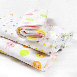 Wholesale Dot Bath Towel - newborn baby bed Baby cotton swaddle wrap swaddling bed sheet newborn thin paragraph bath towel blanketsloth swadding cotton omnipotent blan