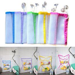 Wholesale Breast Holder - New Home Hecor Bathroom Storage Bag Organizer Suction Net Bag Bath Baby Kid Tidy Toy Holder