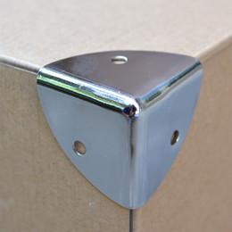 esquinas de equipaje Rebajas Envío gratis 37B soporte de esquina caja de aluminio muebles de esquina Bolsa de equipaje parte de la caja de aire caja de herramientas de sonido esquina