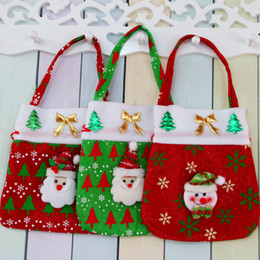 Wholesale Goodie Bag Gifts - Drawstring Canvas Christmas Gift Candy Bags Christmas Bags Favor Gift Package Bulk Set Of Multi-Style Neon Colored Goodie Bags Sacks