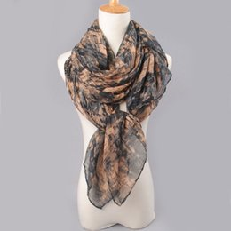 plain cotton voile scarves Promo Codes - Wholesale-2016 High Quality Women Cotton Scarf Voile Scarves Solid Warm Printing Fashion Autumn Winter scarf Shawl wrap