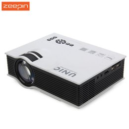 Wholesale Beamer Full Hd 3d - Wholesale-New Original UNIC UC40+ Mini Portable LCD 3D Mini Projector HDMI Portable Home Theater Beamer Multimedia Proyector Full HD Video