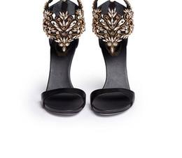 Ms fersen online-Großhändler versandkostenfrei Hochzeit Schuhe handgefertigte Schuhe in Europa und die Peep-Toe-Hohl-Diamant-Geldbuße mit MS hochhackigen sandals243