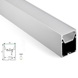 10 X 1 M sets / lote 6000 series perfil de aluminio luz de tira llevada y perfil cuadrado tamaño grande alu para lámparas de techo colgante desde fabricantes