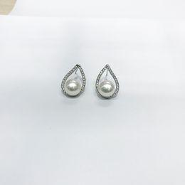 Wholesale Beautiful Girl Earring - 2017 Best Beautiful Gifts Hot Selling Leaf Shape Grade AAA 925 Sterling pearl Earring Stud Earring Settings for Girl and Lovers