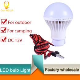 Wholesale Hunting Light Bulbs - Hotsale DC 12V Led Bulb E27 Lamp Emergency Outdoor Camp Tent Night Fishing Hunting 12V Light lamp 3W 5W 7W 9W 12W 15W