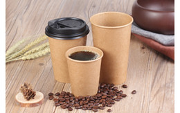 Wholesale Coffee Mug Sleeve - Paper Hot Cups Sets 16 oz Cups, Lids, Sleeves - Office Pack of Insulated Coffee Cups - Disposable Travel Mug