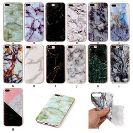 Wholesale Casing Iphone 4s Transparent - New TPU Marble Stripe Case for iPhone 7 Plus 6 6S Plus 5 5S 5C SE 4S Touch6 Back Cover