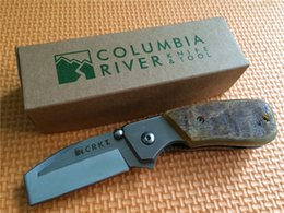 Wholesale Oem Pocket Knife - Hot! OEM CRKT Knife Graham Stubby 4020RH Folding Razel Knife Folding EDC Pocket Knives Camping Survival Hunting Knife