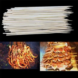 Wholesale Travel Bbq Grill - 30cm Wooden bamboo BBQ sticks tool Bamboo Wooden BBQ Party Skewers Disposable Sticks Meat Food Long Catering Grill Camping
