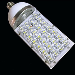Wholesale Warehouse Usa - Wholesale- 28w led street light E27 E40 lamp base led corn bulb light AC 85-265 V with USA Bridgelux chip 2 years warranty free shipping